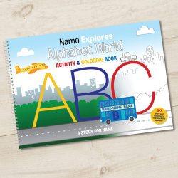 Alphabet World Personalized Activity Book