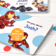 Personalized Marvel Heroes Board Book for kids