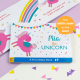 Personalized Unicorn Board Book