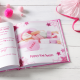 Personalized Pink Party book illustrations