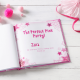 Pink Party Personalized Children's Book