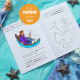 Personalized Frozen 2 coloring book for kids
