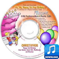 Personalized Digital MP3 Birthday Songs for kids