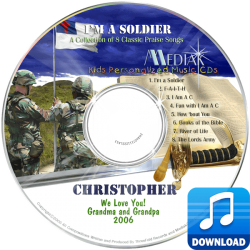I'm a Soldier Personalized Children's Digital Music MP3