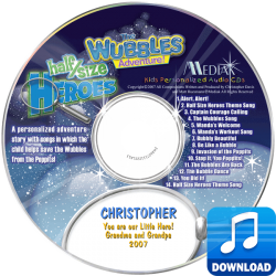 The Wubbles Adventure Personalized Digital MP3 Children's Music