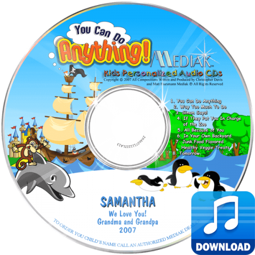 You Can Do Anything Personalized Children's Digital Music MP3