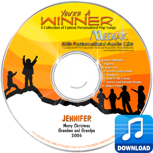 You're a Winner Personalized Children's Digital Music MP3