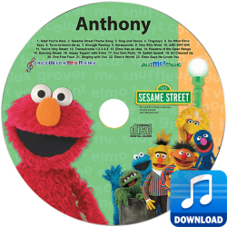 Sesame Street Elmo and Friends Personalized Children's Music MP3
