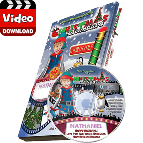 My Christmas Adventure Personalized Photo Digital MP4
