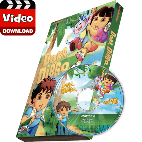 Dora, Diego and Me Kid's Photo Personalized Digital MP4