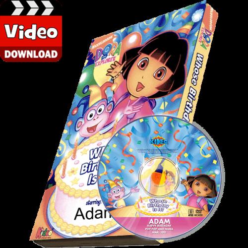 Dora the Explorer Kid's Photo Personalized Digital MP4