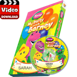 My Party with Barney Photo Personalized Children's Digital MP4