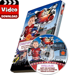 Turbo Kid Personalized Kid's Photo Digital Video