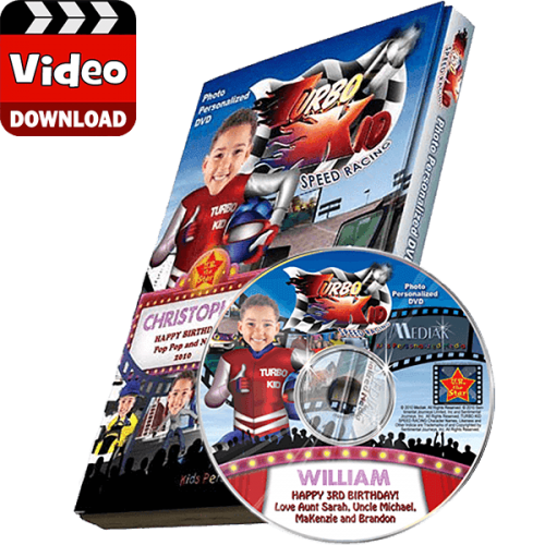 Turbo Kid Personalized Kid's Photo Digital Video