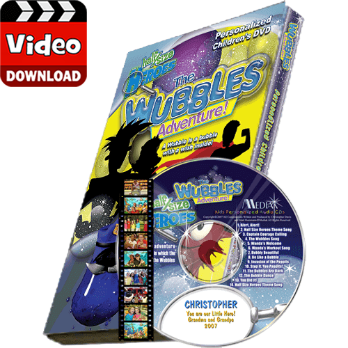The Wubbles Adventures Personalized Kid's Digital MP4
