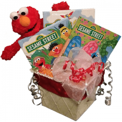 Elmo Gift Basket - Personalized Children's Books