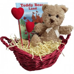Teddy Bear Gift Basket for Kids