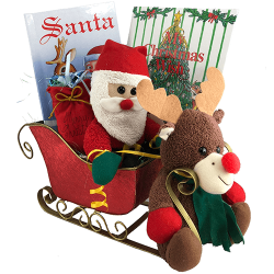 Christmas Gift Basket - Personalized Children's Books