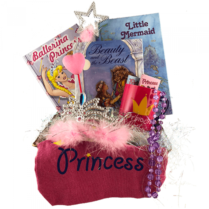 Princess Personalized Books Gift Basket