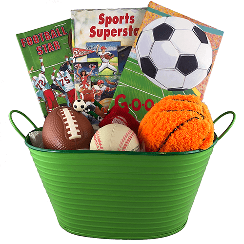 Sports Gift Basket - Personalized Children's Books