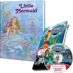 Little Mermaid Personalized Book and DVD