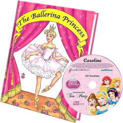 Princess Personalized Children's Book and Kid's Music CD - CAB