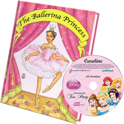Princess Personalized Children's Book and Kid's Music CD - Ethnic Version