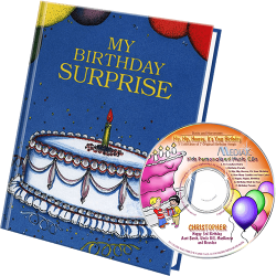 Personalized Birthday Surprise Book and Music CD