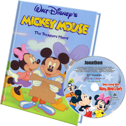 Mickey Personalized Book and Music CD