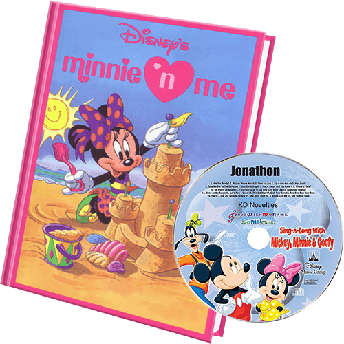 Minnie Mouse Personalized Book and Music CD