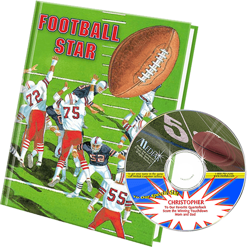 Football Personalized Book and Music