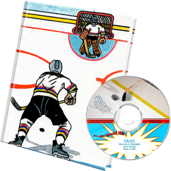 Hockey Personalized Book and Music Gift Set