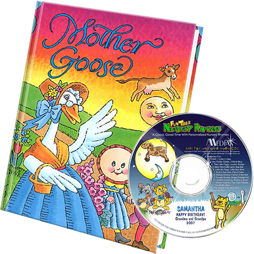Nursery Rhymes Personalized Book and Music