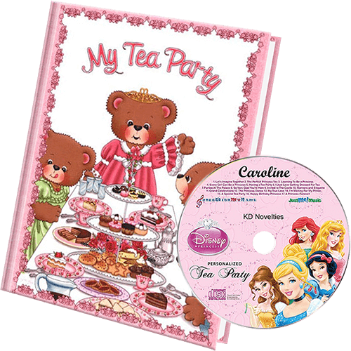 Tea Party Personalized Book and Music Gift Set