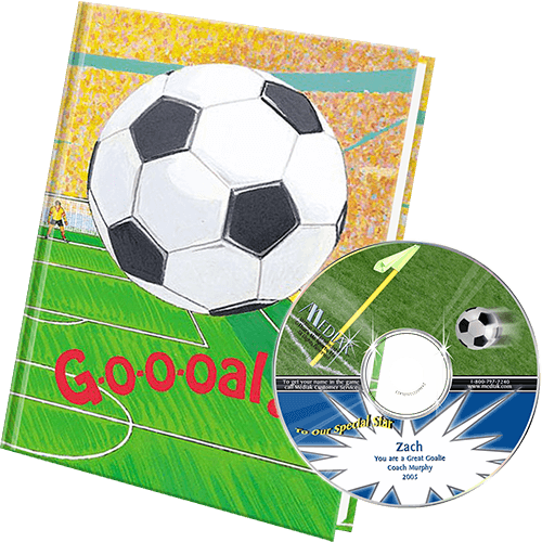 Personalized Soccer Book and Music Gift Set