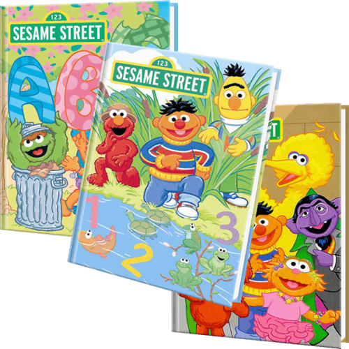 Sesame Street 3 Personalized Children's Books Set