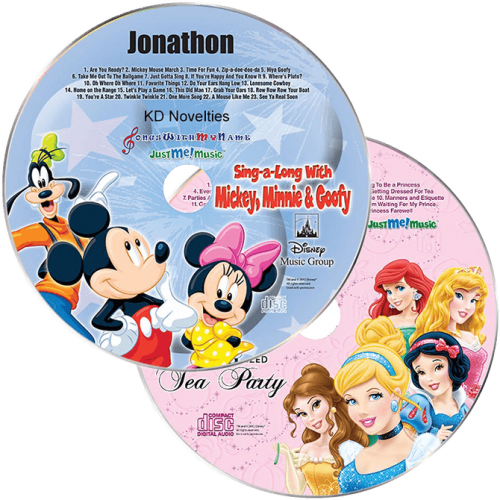 Disney's Princesses and Mickey Personalized Music CDs