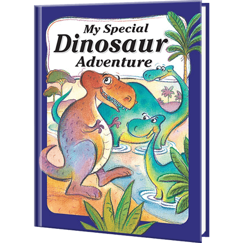 Kids Make New Friends In Their My Dinosaur Adventure Personalized Book