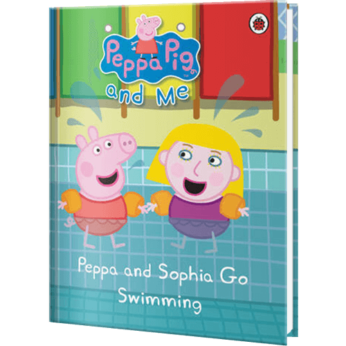 Peppa Pig and Your Child Go Swimming Personalized Book