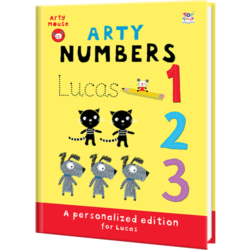 Personalized Arty Mouse Numbers Book