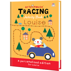 Personalized Arty Mouse Tracing Book