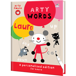 Personalized Arty Mouse Words Book