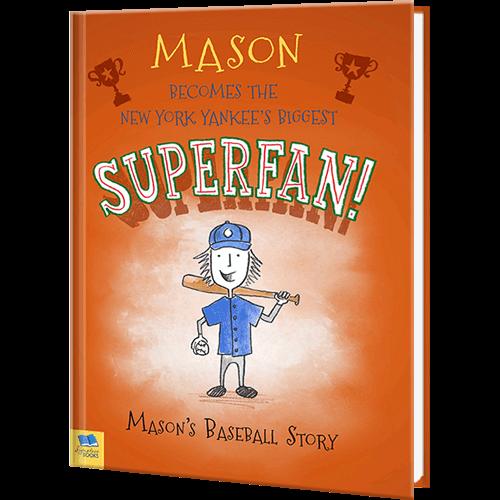 Baseball Superfan Personalized Sports Book