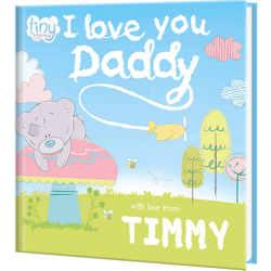 Personalized Children's Tiny Tatty Teddy I Love You Daddy Book