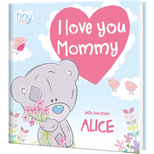 Personalized Children's Tiny Tatty Teddy I Love You Mommy Book