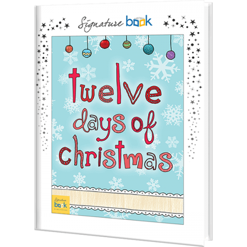 Twelve Days Of Christmas Book.Twelve Days Of Christmas Personalized Story Book