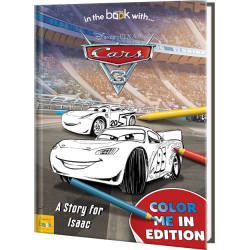 Personalized Disney's Pixar Cars 3 Coloring Book