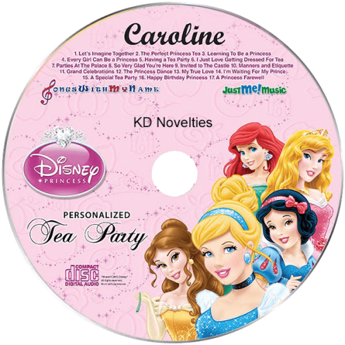 Disney Princess Tea Party Personalized Music CD