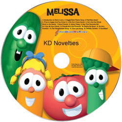 VeggieTales Sing Along Personalized Children's Music CD