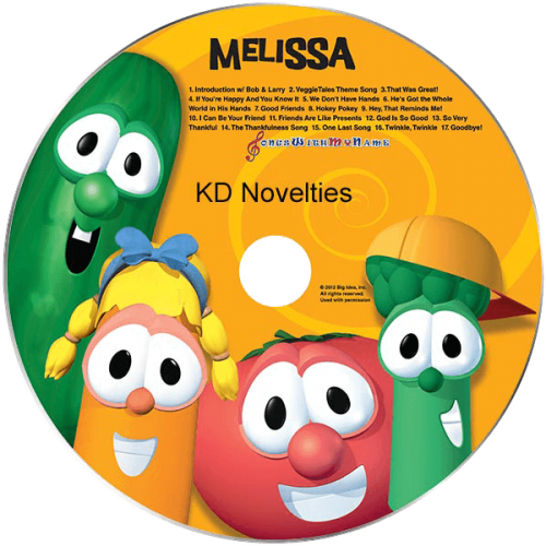 VeggieTales Sing-A-Long Personalized Children's Music CD